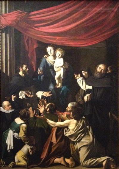 St. Dominikus mottar rosenkransen
